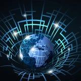 Abstrakcjonistyczna 3D technologia, internet Conce lub sieci,