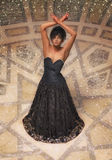 abstrakcjonistyczna dancingowa ilustraci inc kobieta Zdjęcia Stock