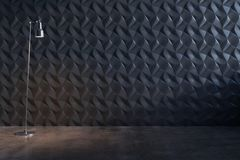 Abstrakcjonistyczna dekoracyjna czerni ściana zdjęcia stock