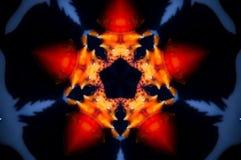 Abstrakcjonistyczna denna skorupy mandala fotografia zdjęcie stock