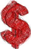 abstrakcjonistyczna dolarowa ikona ilustracja wektor