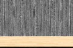 Abstrakcjonistyczna drewno stołu tekstura na drewnianym ściennym tle fotografia royalty free