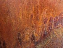 Abstrakcjonistyczna drippy dołkowata miedziana tekstura i ośniedziały metalu tło zdjęcia royalty free