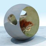 Abstrakcjonistyczna Drzewna kula ziemska Zdjęcia Stock