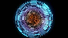 Abstrakcjonistyczna dyskoteki pi?ka na czarnym tle animacja Kolor dyskoteki gradientowa pi?ka z odbijaj?cymi g??wnymi atrakcjami  royalty ilustracja