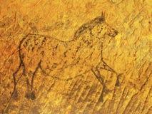 Abstrakcjonistyczna dziecko sztuka w piaskowcowej jamie ilustracja wektor