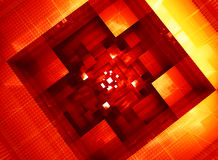 Abstrakcjonistyczna elektroniczna systemu architektury forma Obraz Royalty Free