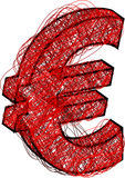 abstrakcjonistyczna euro ikona royalty ilustracja