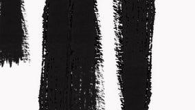 Abstrakcjonistyczna farby muśnięcia przemiana Wyjawia z teksturą Alfa kanał - przezroczystość zbiory wideo
