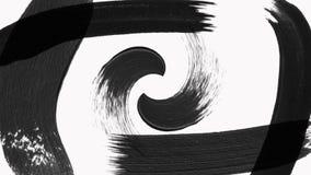 Abstrakcjonistyczna farby muśnięcia przemiana wyjawia z teksturą Alfa kanału przezroczystość ilustracji
