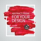 Abstrakcjonistyczna farby muśnięcia uderzenia rama Plakatowy szablon 10 tło projekta eps techniki wektor Zdjęcie Royalty Free