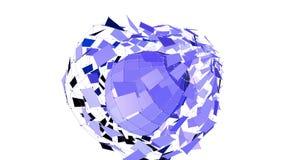 Abstrakcjonistyczna fiołkowa macha 3D siatka lub siatka tętniący geometryczni przedmioty Use jako abstrakcjonistyczny splendoru k royalty ilustracja