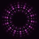 Abstrakcjonistyczna fiołkowa round rama Obrazy Stock
