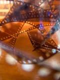 Abstrakcjonistyczna fotografia przekręcający celuloidowy fotografia film Obraz Stock