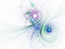 Abstrakcjonistyczna fractal krzywa, spirala wzór ilustracji