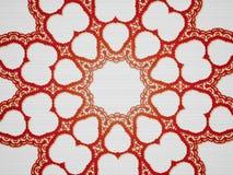 Abstrakcjonistyczna fractal pająka sieć jak projekt ilustracja wektor