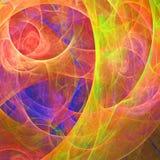 Abstrakcjonistyczna fractal tapeta z różnym i wiele kształtami zdjęcie stock