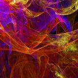 Abstrakcjonistyczna fractal tapeta z różnym i wiele kształtami Zdjęcie Royalty Free