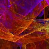 Abstrakcjonistyczna fractal tapeta z różnym i wiele kształtami Obraz Stock