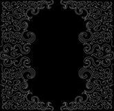 Abstrakcjonistyczna fryzowanie rama Wektorowy tło Fotografia Stock