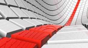 abstrakcjonistyczna futurystyczna autostrada ilustracja wektor