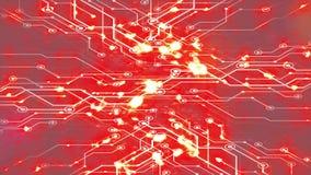 Abstrakcjonistyczna futurystyczna elektronicznego obwodu deska z jarzyć się zaświeca ilustracji