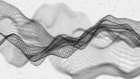 abstrakcjonistyczna futurystyczna ilustracja Dane technologia ??czy? kropki i linie na bia?ym tle Du?y dane unaocznienie royalty ilustracja