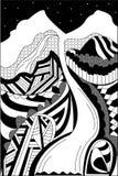 abstrakcjonistyczna góra Obraz Stock