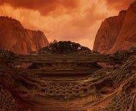 abstrakcjonistyczna góra odpłaca się dolinę Zdjęcie Royalty Free