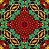 Abstrakcjonistyczna geometria sztuka współczesna Mistyczny wschodni mandala kwiecistego kalejdoskopu tradycyjny projekt Psychodel ilustracja wektor