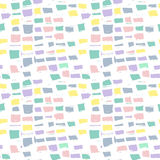 Abstrakcjonistyczna geometryczna bezszwowa ręka rysujący wzór grunge nowoczesnej konsystencja kolorowe tło Fotografia Royalty Free