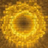 Abstrakcjonistyczna geometryczna gradientowa złota tekstura fotografia stock