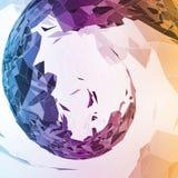 Abstrakcjonistyczna geometryczna ilustracja Fotografia Royalty Free