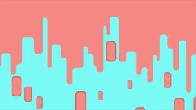 Abstrakcjonistyczna geometryczna minimalna wideo animacja zdjęcie wideo