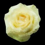 Abstrakcjonistyczna geometryczna poligonalna biel róża. ilustracji