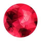 Abstrakcjonistyczna geometryczna poligonalna czerwona sfera. Zdjęcie Royalty Free
