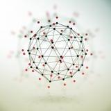 Abstrakcjonistyczna geometryczna poligonalna struktura Obrazy Stock