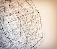 Abstrakcjonistyczna geometryczna poligonalna struktura Zdjęcia Royalty Free
