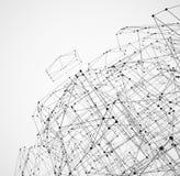 Abstrakcjonistyczna geometryczna poligonalna struktura Fotografia Royalty Free