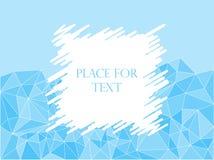 Abstrakcjonistyczna geometryczna poligonalna tekstury mozaika, błękit, trójboki Kluć się, przestrzeń dla teksta również zwrócić c ilustracja wektor