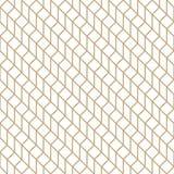 Abstrakcjonistyczna geometryczna siatka Złocisty minimalny graficznego projekta druku wzór ilustracja wektor