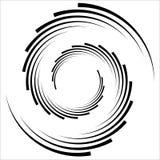 Abstrakcjonistyczna geometryczna spirala, czochra element z kurendą, concent ilustracji