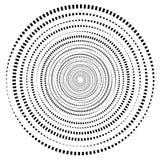 Abstrakcjonistyczna geometryczna spirala, czochra element z kurendą, concent royalty ilustracja