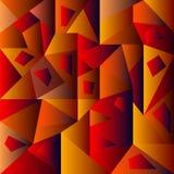 Abstrakcjonistyczna geometryczna tło czerwień Zdjęcie Royalty Free