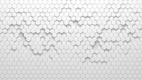 Abstrakcjonistyczna geometryczna tekstura przypadkowo wyrzuceni sześciokąty Fotografia Royalty Free