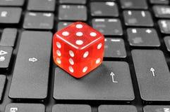 Abstrakcjonistyczna gra online zdjęcia stock
