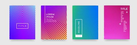 Abstrakcjonistyczna gradientowa koloru wzoru tekstura dla książkowego okładkowego szablonu wektoru setu ilustracja wektor