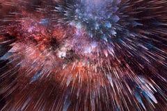 Abstrakcjonistyczna grafika Wybucha W Bezszwowego Kolorowego tło zdjęcia stock