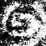 Abstrakcjonistyczna grunge czerni atramentu spirali tekstura, grunge pluśnięcia tło Fotografia Royalty Free