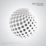 Abstrakcjonistyczna halftone sfera w grayscale kolorze ilustracja wektor